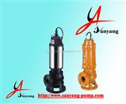 三洋牌排污泵,JYWQ潛水排污泵,排污泵工作原理,排污泵安裝示意圖
