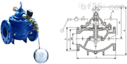 106X电磁遥控浮球阀