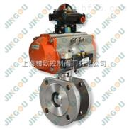 上海精欧Q671F气动对夹球阀