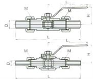 外螺紋球閥(帶焊接管)