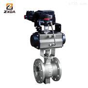 ZXDA中旭达气动固定式球阀/Q647F/H-DN80