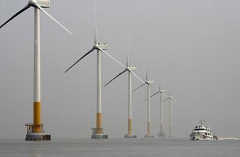 2015年东海大桥风电厂将对约25万户上海市民供电