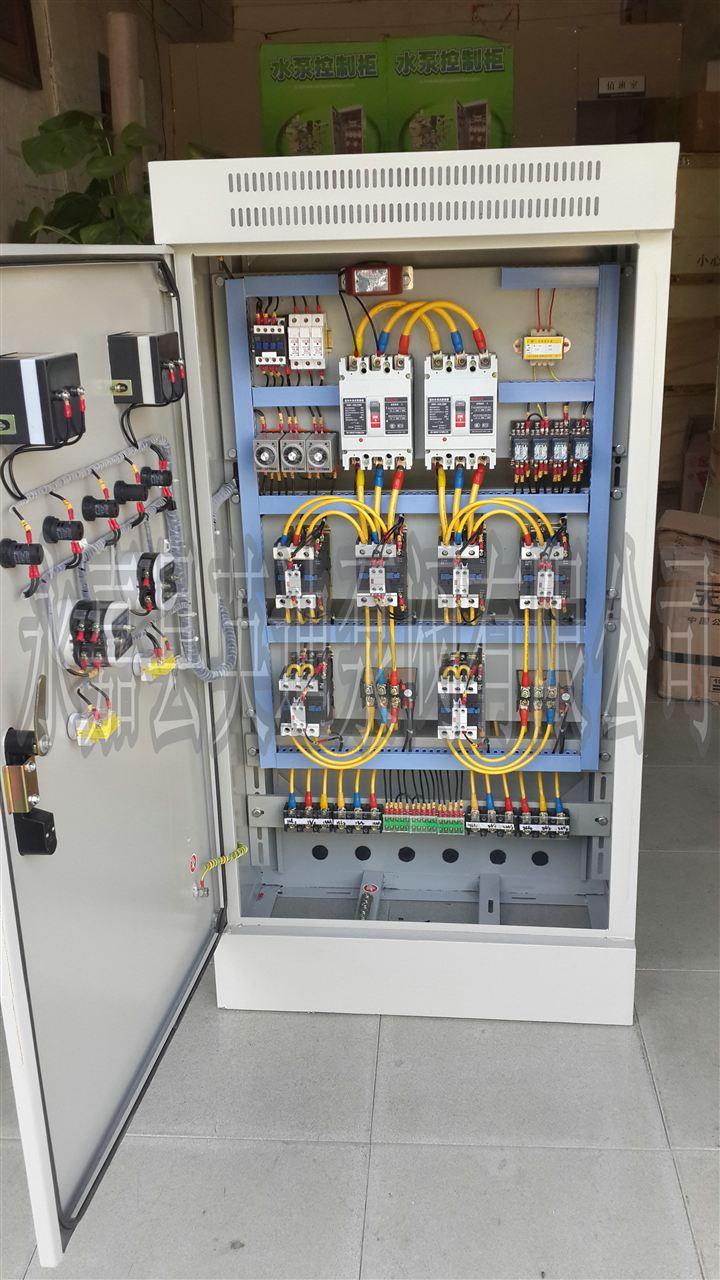 """英迪水泵控制柜特点: 1、电路设计简洁明了、思路清晰、便于故障、分析维护; 2、性能优良、控制方式灵活、抗干扰能力强、工作稳定可靠; 3、控制程序化,可按用户需要实现多种控制方式。如:液位控制、压力控制、时间控制、消防控制等; 4、手动、自动控制功能设置、保证设备的安全连续运行、功能强、寿命久。 英迪水泵控制柜功能原理及用途: 一、控制模式 1、一用一备:控制1#、2#两台水泵,自动时,可工作于""""1#主2#备"""",或""""2#主1#备"""",两种状态,当主用泵发生故障"""