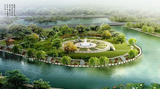 环境绿化景观城市风景psd素材   爱图网设计图片素材下载